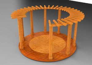 3d model of birdseye pergola