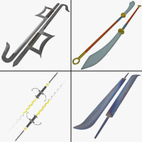 3ds max bladed weapon