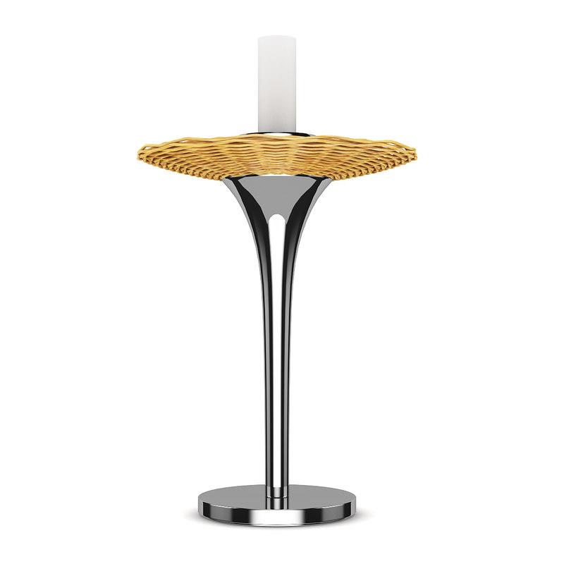 3d model wicker table lamp