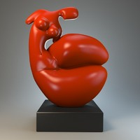 obj sculpture statue stylized