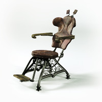 3d vintage dentist chair