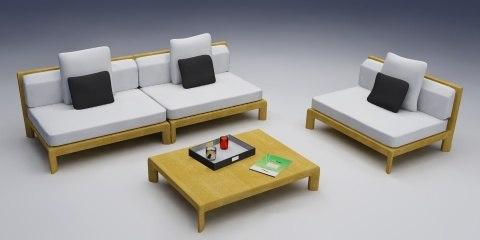 3d model chair seat