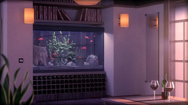 fish tank obj