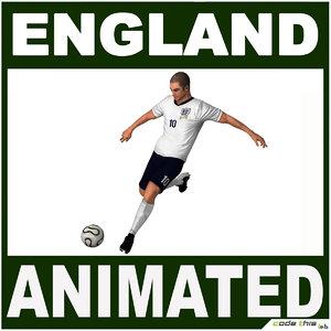 3d england soccer player cg