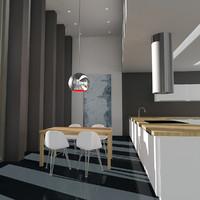 3dsmax modern kitchen