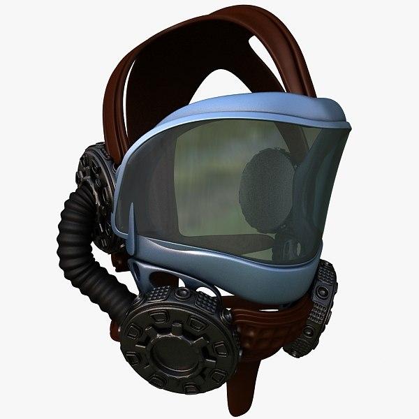 3d max pilot helmet