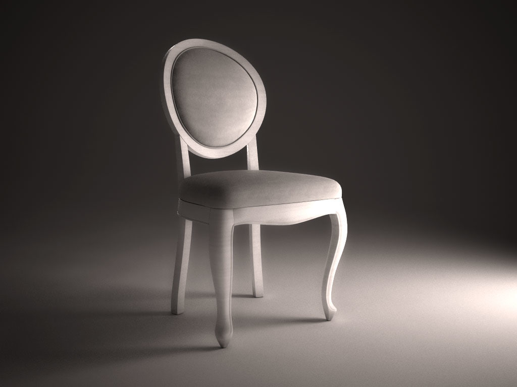 3ds max modern antique chair