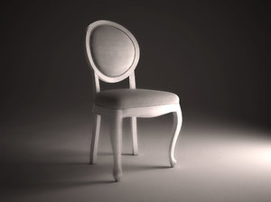 3ds max modern antique chair