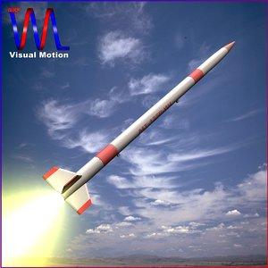 3d japanese rocket mt-135