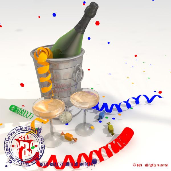 happy new year 3d model