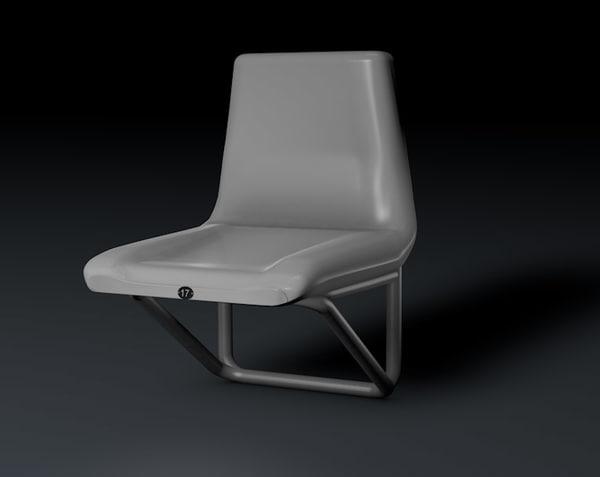 3d stadium chair model