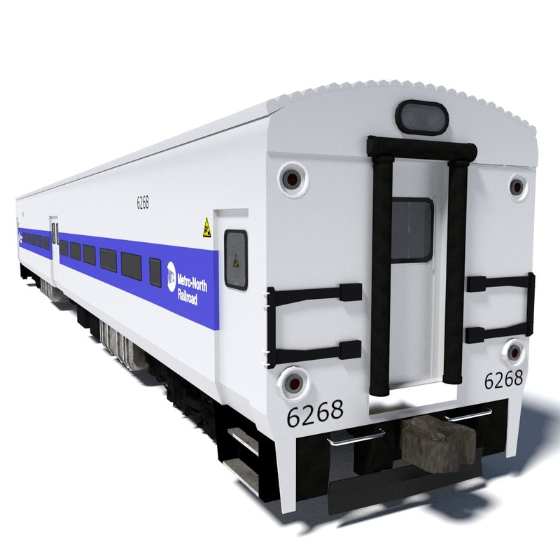 3d metro-north train wagon 2 model