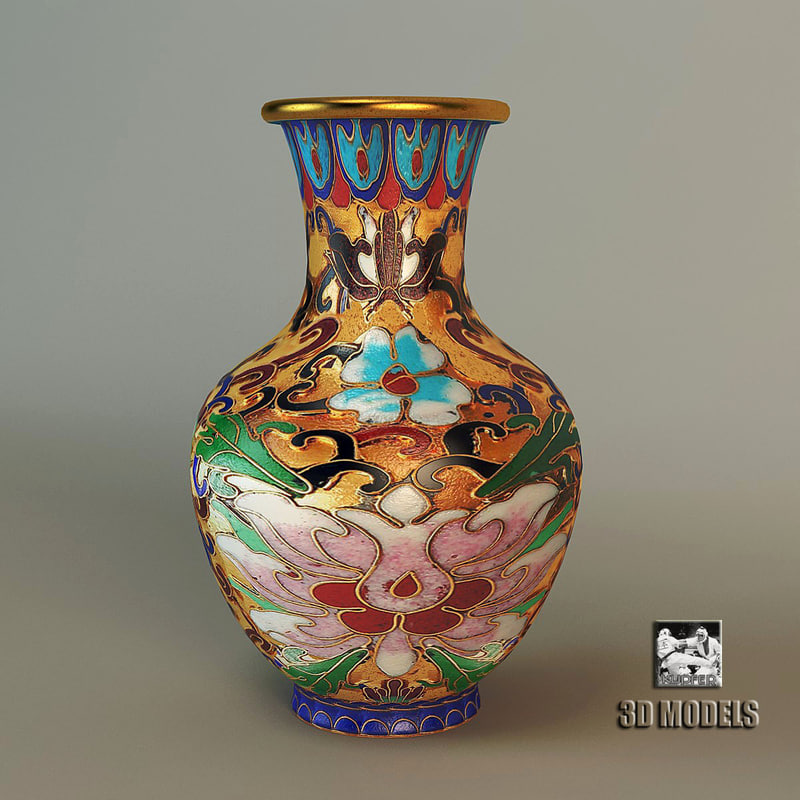 3d chinese vase model