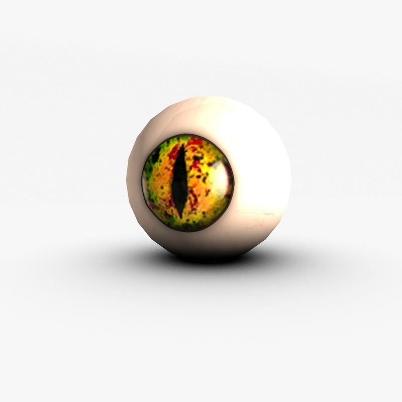 yellow snake eye 3d 3ds