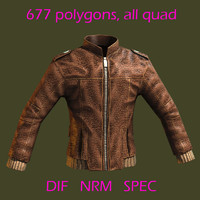 leather jacket 3d model