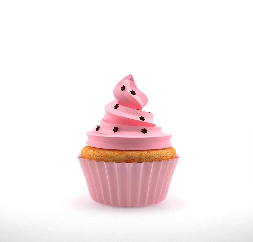 cupcake 3d model