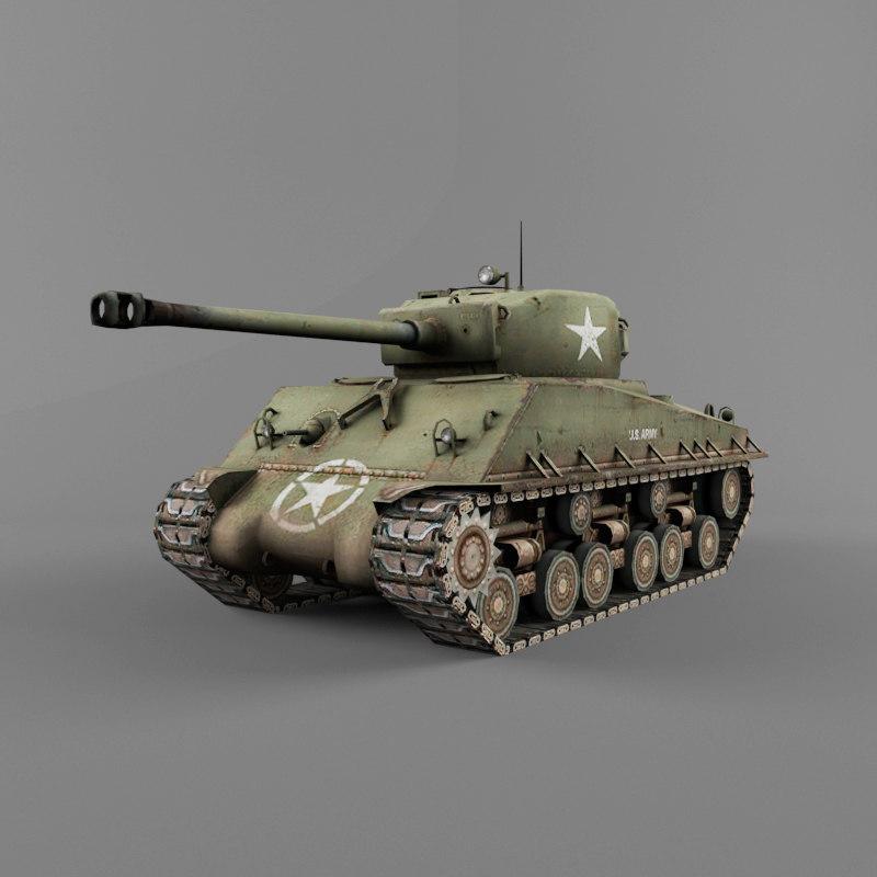 m4 tank wwii 76 obj