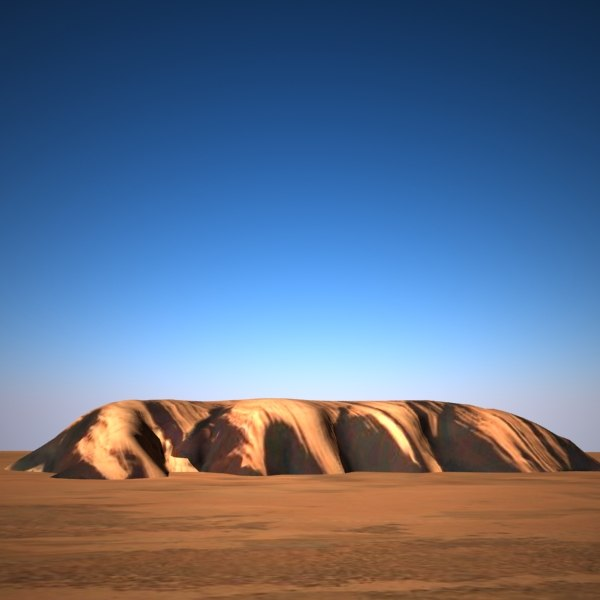 uluru rock sandstone 3d 3ds