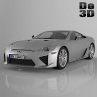 lexus lfa 2013 3d max
