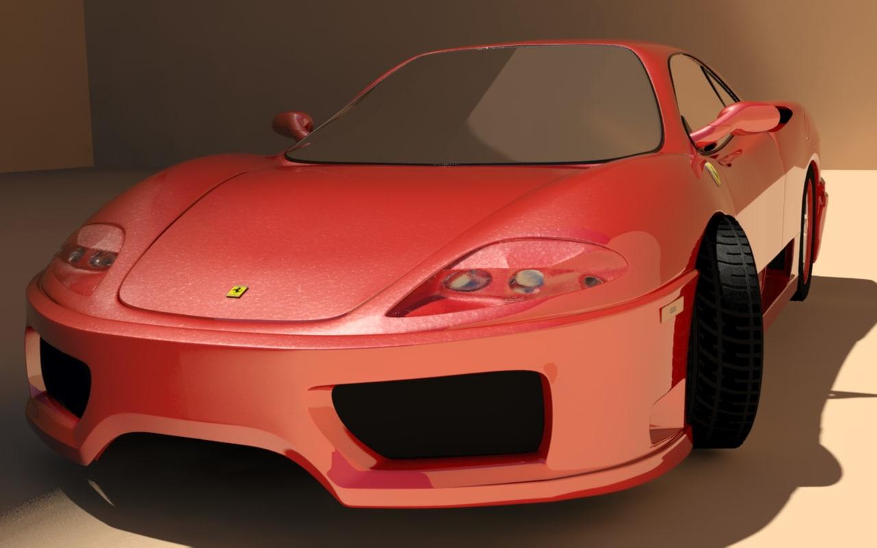 360 modena 3d model