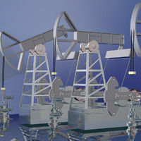 rocking machine oil pumpjack 3d blend