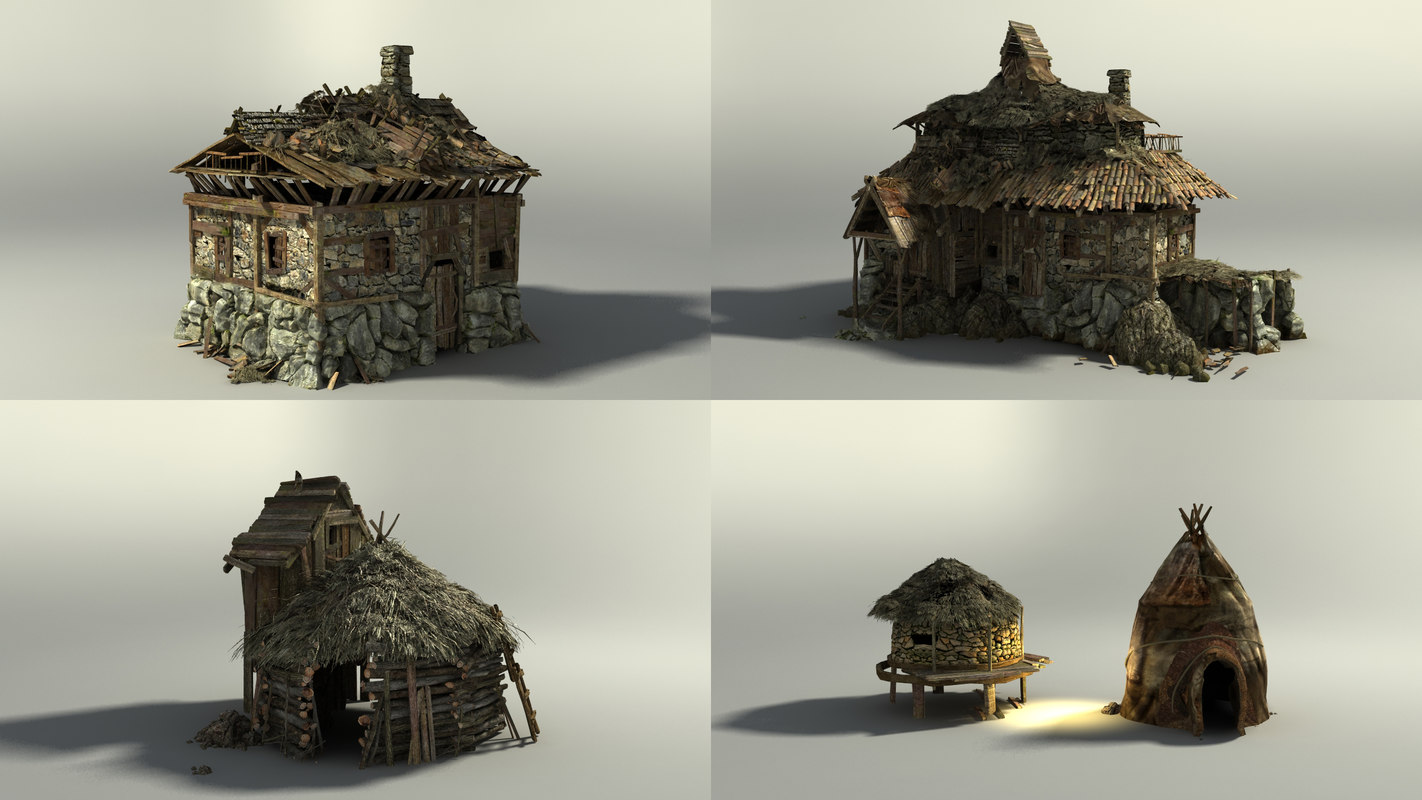 3d shack model