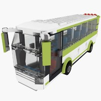 3ds max bus set lego