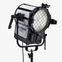 "Altman ProLine 2000 L-SM Watt 7"" Fresnel Stand Mounted Model and Altman 8 Leaf TV Film Barndoor"