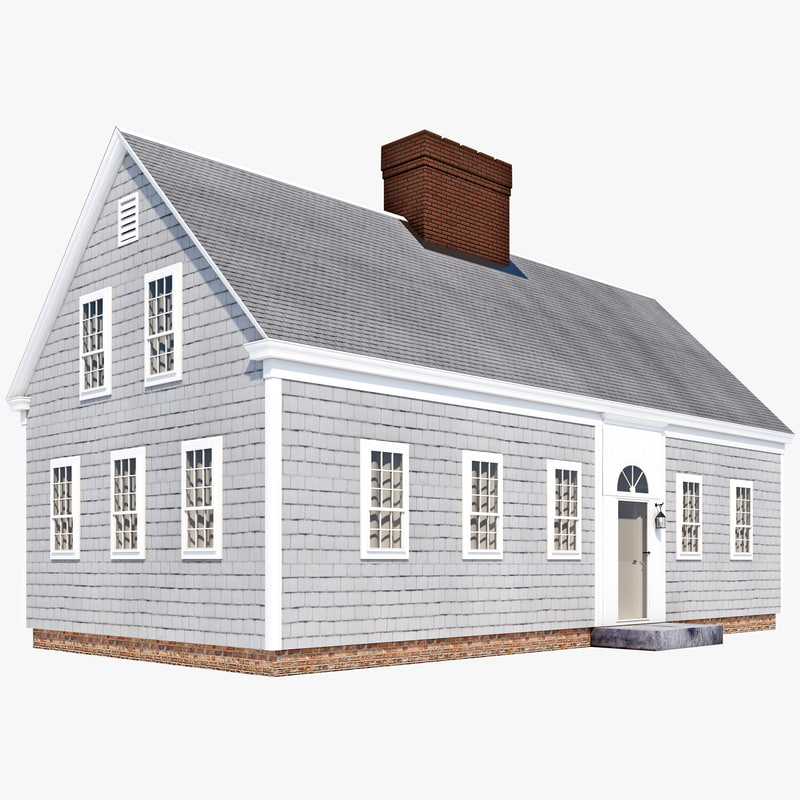 3d model cape cod house