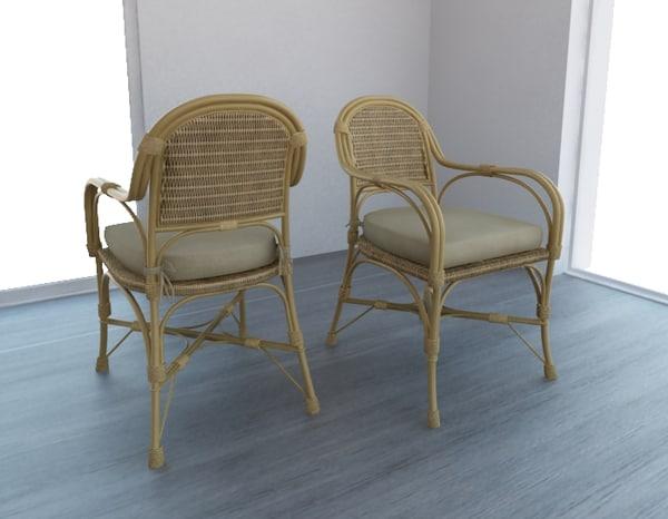 straw traw chair 3d model