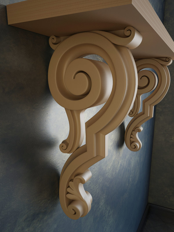 3d Scroll Of Parchment Photo: Corbel Scroll 3d Max