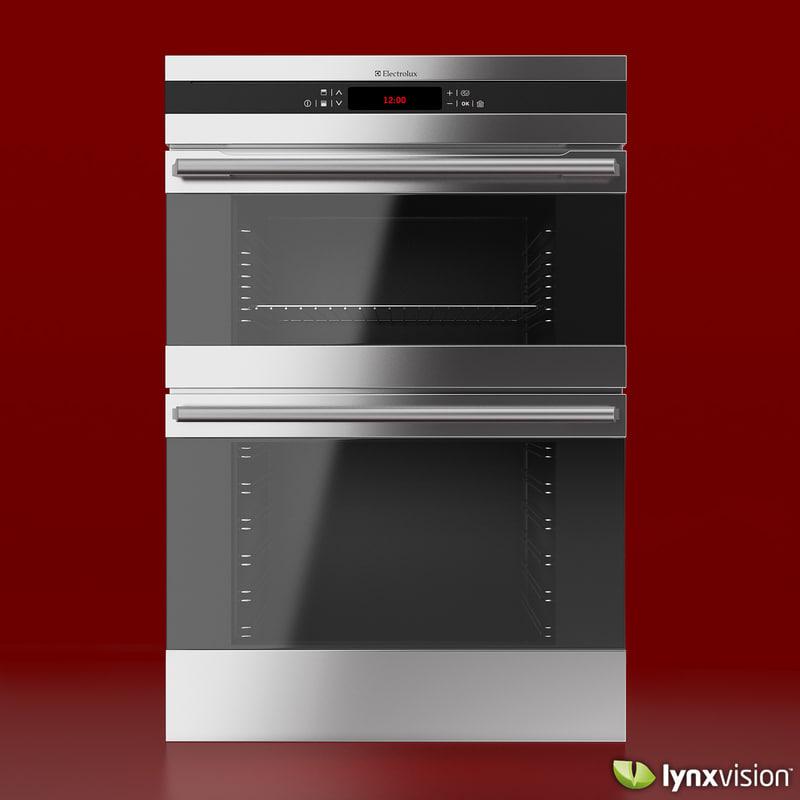 built- double oven digital 3d max