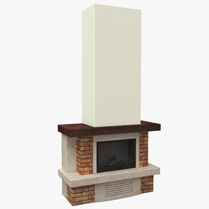 fireplace 7 3d model