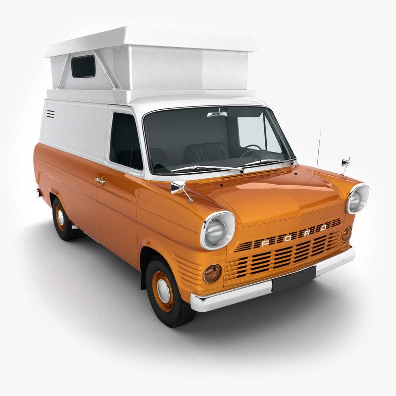 3ds max 1965-1978 transit camper van