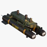 3d hellfire ii missile model
