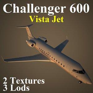 bombardier challenger vjt 3d max