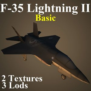 lockheed martin basic fighter 3d model