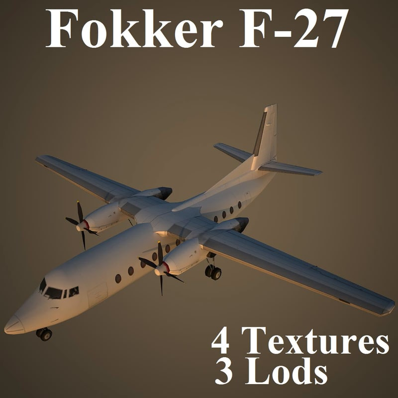 3d model of fokker low-poly