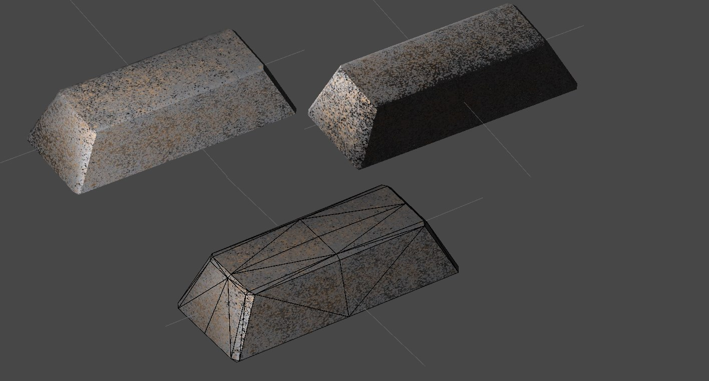3d iron ingot model