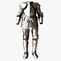 3d knight body armor model