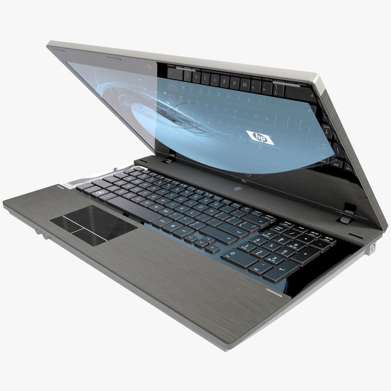 laptop hp probook 3d obj