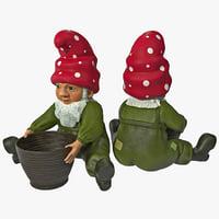 lawn gnome basket 3d model