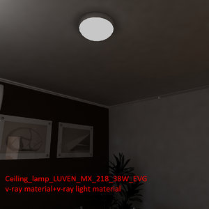 ceiling lamp luven mx 3d model