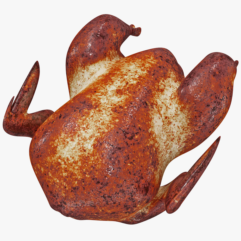 rotisserie chicken 3d model