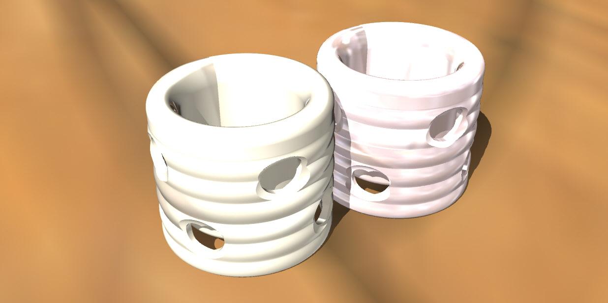 3d tea coffee cup hearth model
