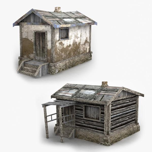 3d old barns model