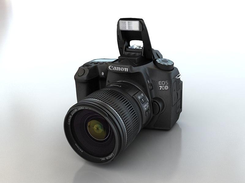 3d canon eos 70d model