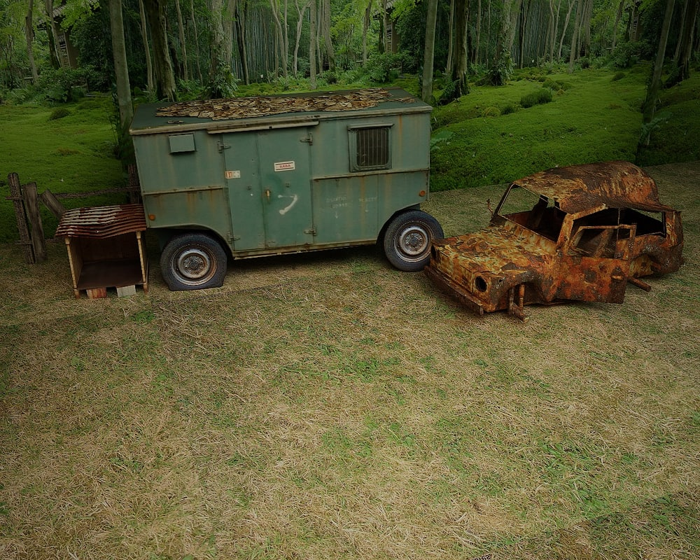 caravan trailer car 3d 3ds