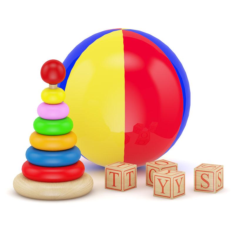 3d model of ball blocks toy