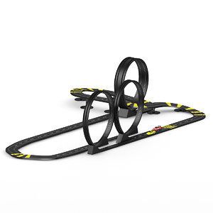 3d c4d racing track toy